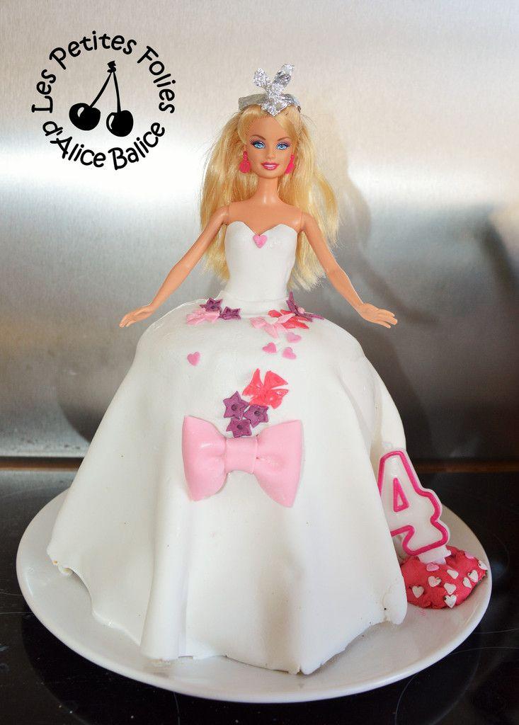 Les 25 meilleures id es de la cat gorie g teau barbie sur - Barbie princesse des neiges ...