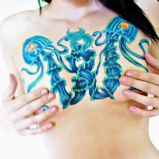 My chest tattoo. Turritopsis nutricula. Immortal jellyfish ...