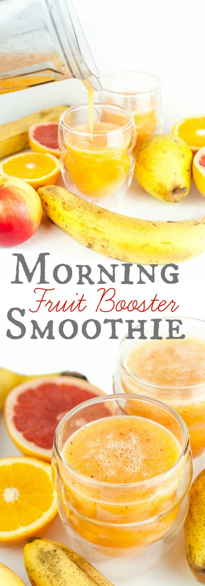 Morning Fruit Booster Smoothie. A fresh and zingy morning smoothie which will wake you up and help you stay energized for those busy hours to come.