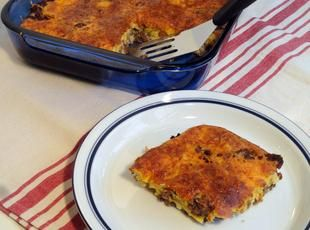 Mom's Impossible Cheeseburger Pie