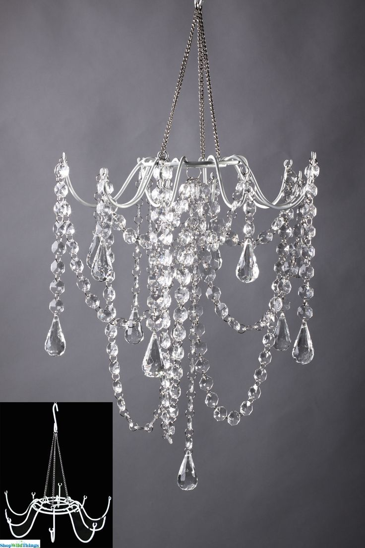 705 best crafts images on pinterest chandeliers chandelier and wire create your very own chandelier decoration using our white metal frame just add your own arubaitofo Images