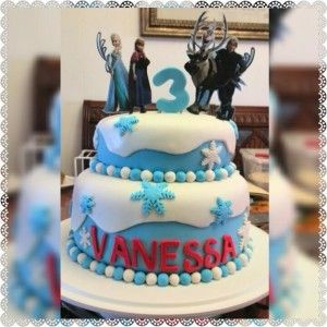 Frozen theme cake  http://cakedecorating.myfavoritecraft.org/birthday-cake-images/