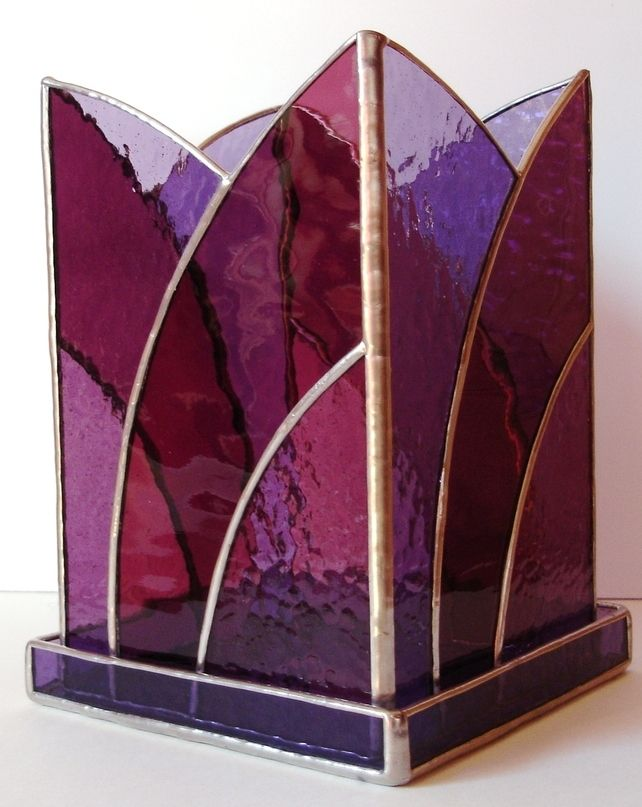 STAINED GLASS CANDLE HOLDER £55.00