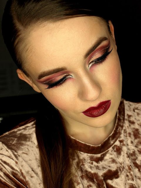 http://red-mylips.blogspot.com/2016/12/bordowo-miedziane-cut-crease.html