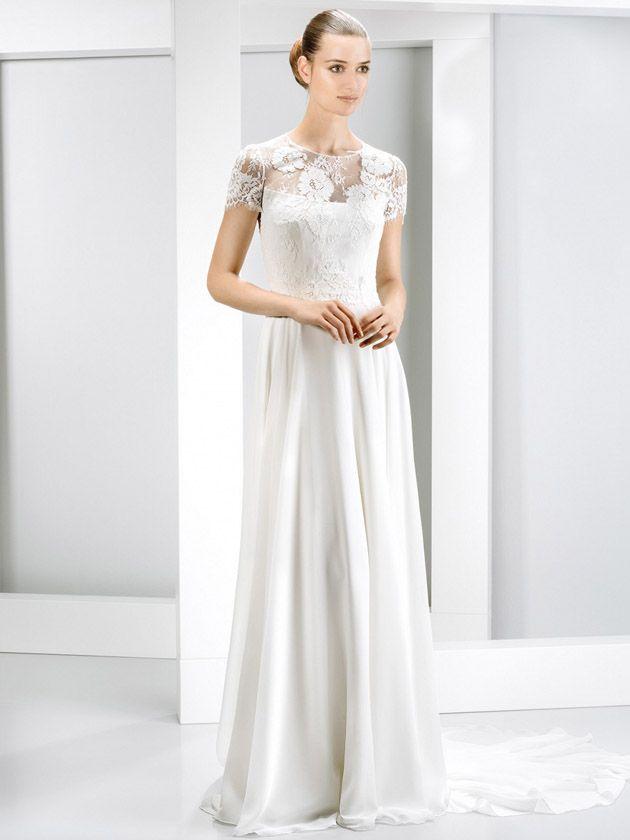 49 best Brautkleider images on Pinterest   Wedding frocks, Short ...