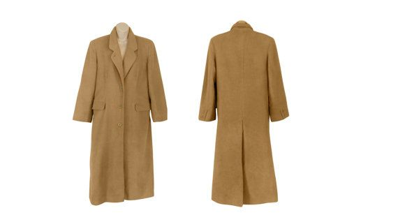 Camel Hair Coat Winter Trench Coat Long by SecondHandObsession