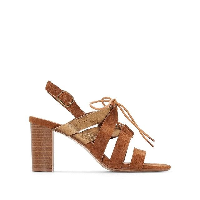 Sandales cuir bicolores Anne Weyburn | La Redoute