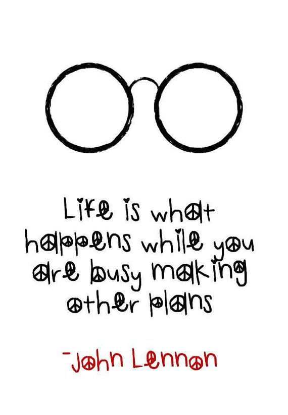 John Lennon Making Plans Quote Typography by TheWordAssociation
