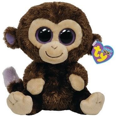 Ty Beanie Boo's Baby Monkey Purple Eyes