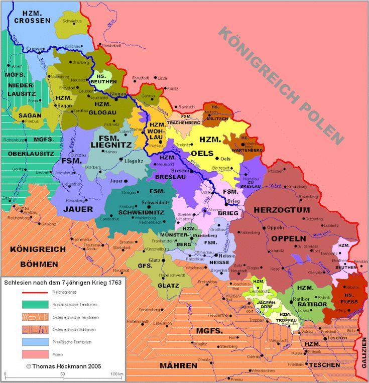 Schlesien im Jahre 1763 (Silesia in the year 1763)