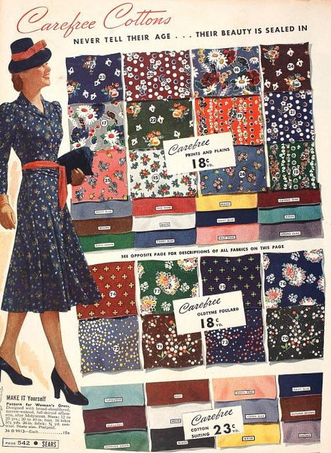vintage fabric patterns 1940s