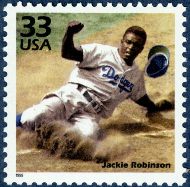 Jackie Robinson broke the color barrier in baseball when we was signed by the Brooklyn Dodgers in 1947.