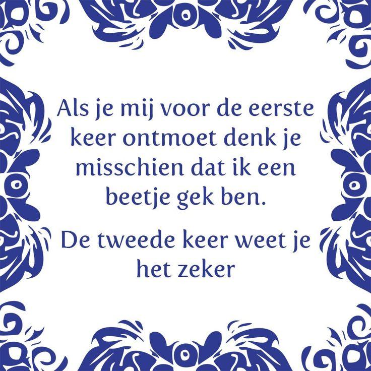 Tegeltjeswijsheid.nl - een uniek presentje - Als je mij voor de eerste keer ontmoet
