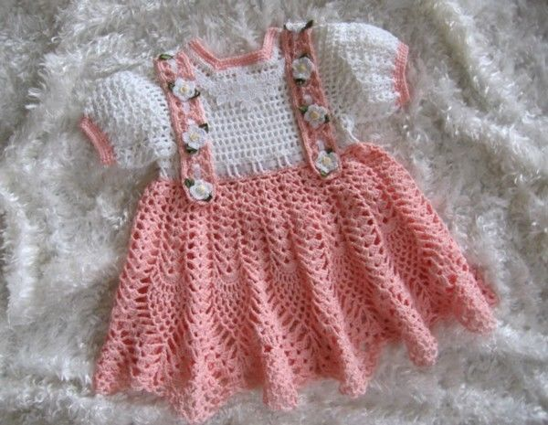 TWO DAINTY & LACY Baby Dress Crochet Patterns (17 18) by REBECCA
