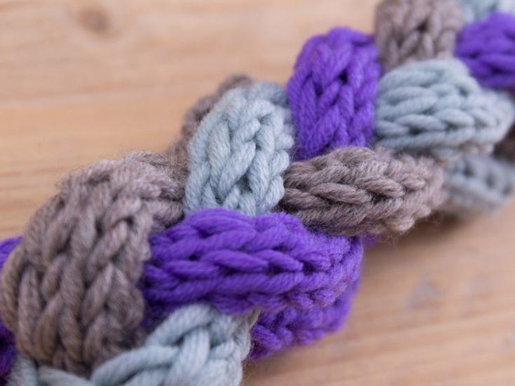 Tutorial fai da te: Come fare a maglia una fascia per capelli intrecciata via DaWanda.com