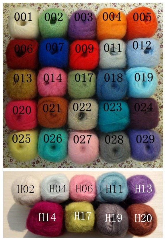 4Pcs/Lot Mix Color .mohair sweater knitting yarn hand knitted scarves Angola mohair yarn multicolor-in Thread from Home & Garden on Aliexpress.com | Alibaba Group