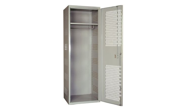 The Hallowell Ventilated Locker will give your room a classic industrial and authentic gym class feel. Plus, it's a great choice for extra storage space.