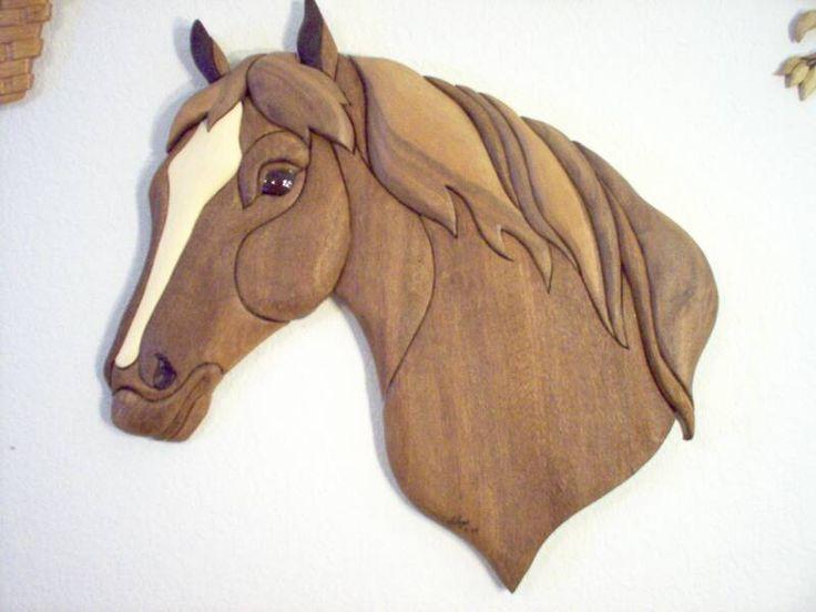 Интарсия лошадь