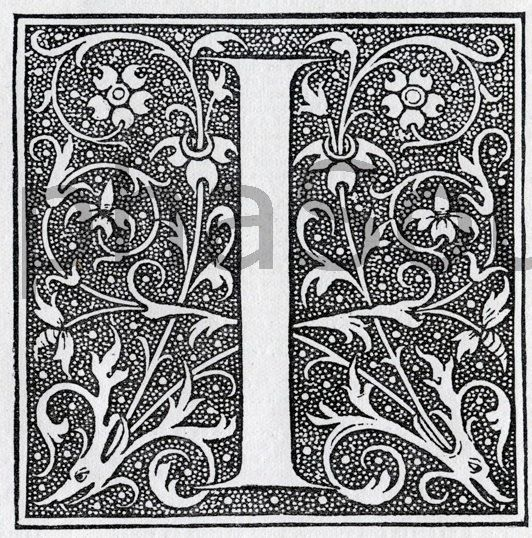 INSTANT DOWNLOAD French Letter I Illuminated by alphasoup on Etsy, $2.00