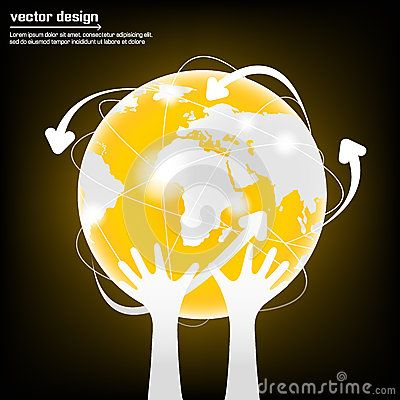 Modern globe connections network vector design