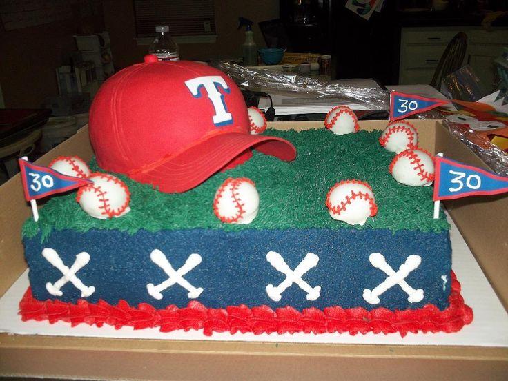 Texas Rangers Cake by texasmama86 | Cake Decorating Ideas