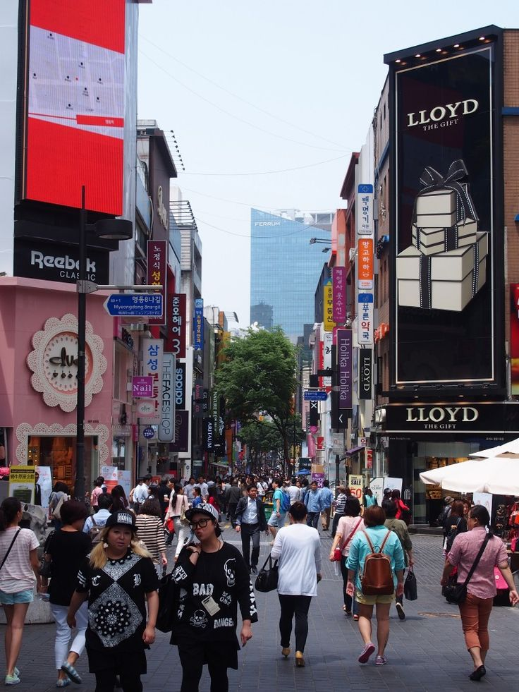 Myeongdong shopping district, Seoul