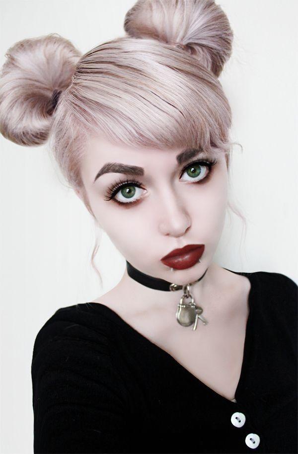 Pastel Goth Makeup/Hair Tutorial                                                                                                                                                                                 More