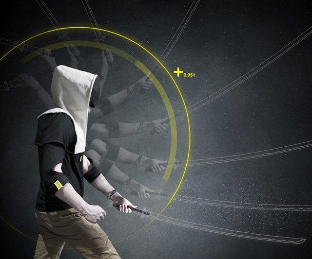 Virtual Reality Hoodie.  This VR Hoodie incorporate depth camera, CPU, accurate gesture tracking and force feedback into a stylish, futuristic package
