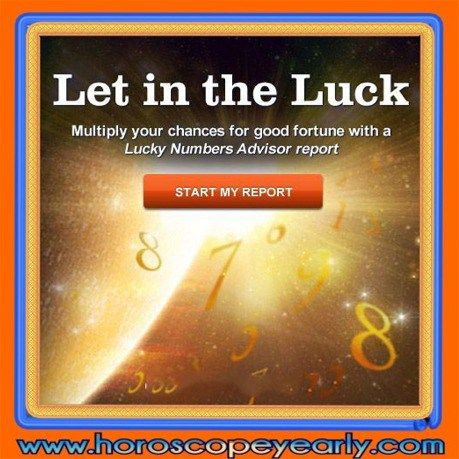 Your Lucky numbers advisor report - This report will look at your important core numbers and reveal how to attract luck into your life. Quickly fill in the form to receive for FREE! Your Personal Horoscope, Your Lucky Numbers, and more! Get Yours Here: http://www.horoscopeyearly.com/the-lotto-number-generator/