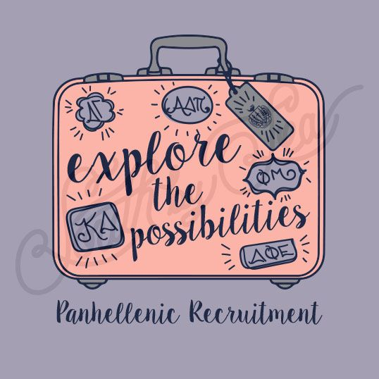 Explore the Possibilities | Travel Graphic Design | Panhellenic Recruitment