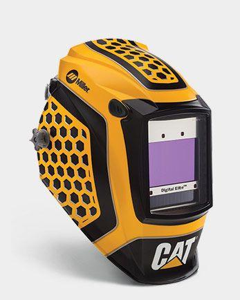 Miller Electric Digital Elite Series Cat® - 1st Edition welding hood.  4 arc sensors.