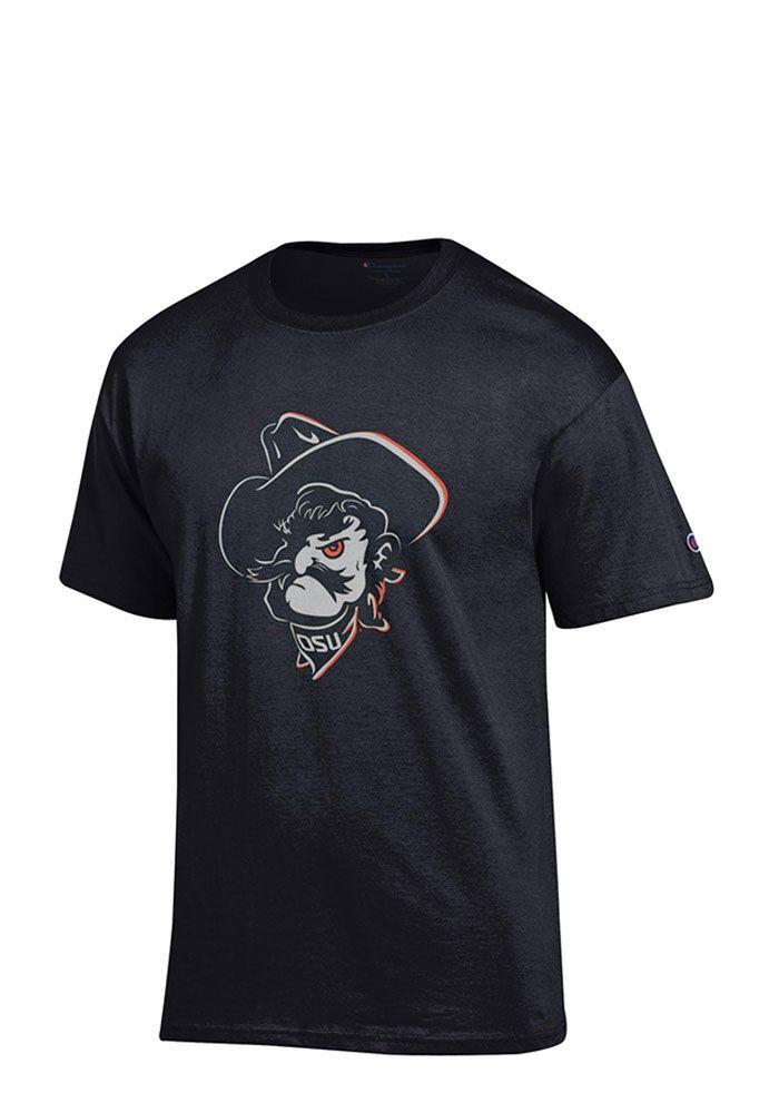 471197867dbe7 Oklahoma State Cowboys Mens Black Phantom Pete Short Sleeve T Shirt - Image  1