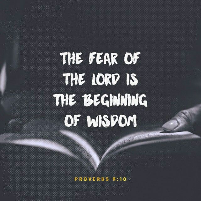 """The fear of the Lord is the beginning of wisdom, And the knowledge of the Holy One is understanding. Pr 9:10 NKJV http://bible.com/114/pro.9.10.NKJV"