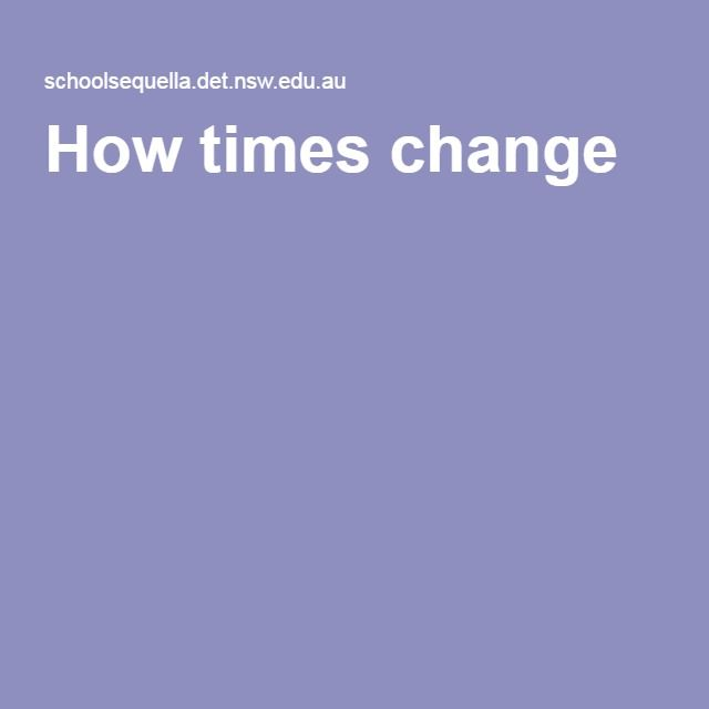 How times change - This resource is a website supporting teachers and students of the Australian Curriculum: History in Year 1. Includes teacher support, curriculum connections and ready-to-use digital resources about the present, past and future and about differences between their own lives and those of people in the past.