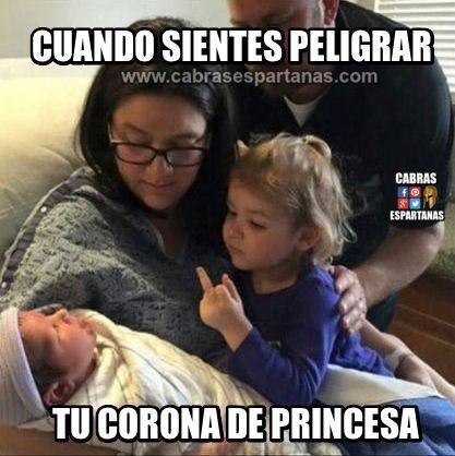 Princesa sin corona por un nuevo hermano
