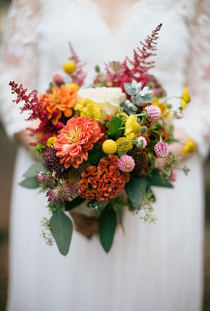 47 Beautiful Bouquets For A Fall Wedding Hochzeitsgestecke Hochzeit Blumendekorationen Winter Hochzeit Blumen