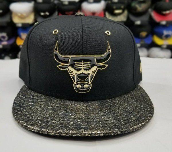 22c307598705 Matching New Era Chicago Bulls strapback Hat for Jordan 14 DMP Black Gold  Metal