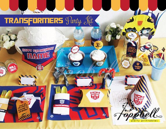 Transformers Party Kit. Complete Set Transformer Party by Popobell