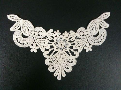 Sewing Material Cotton Chemical Motive Lace Ivory 1pcs n006 #KoreaDesignerShop