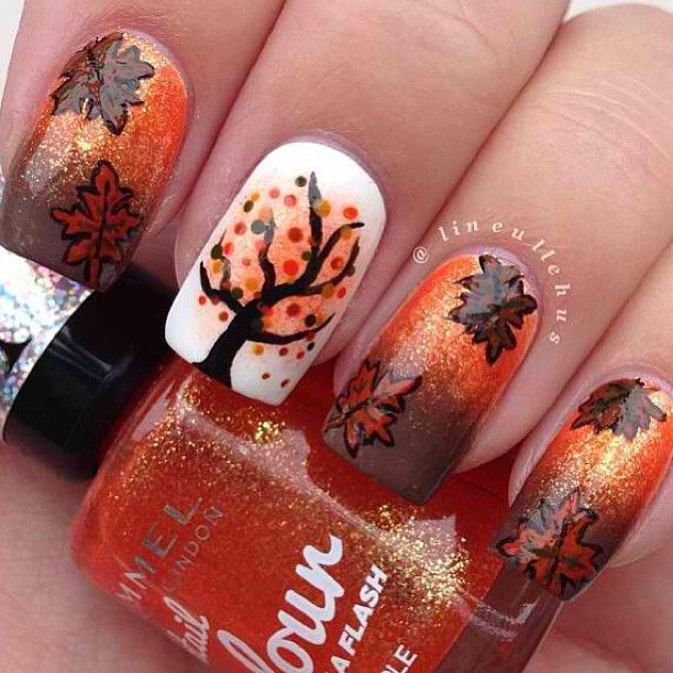 Autumn Nails - Pretty! But also impossible hahah