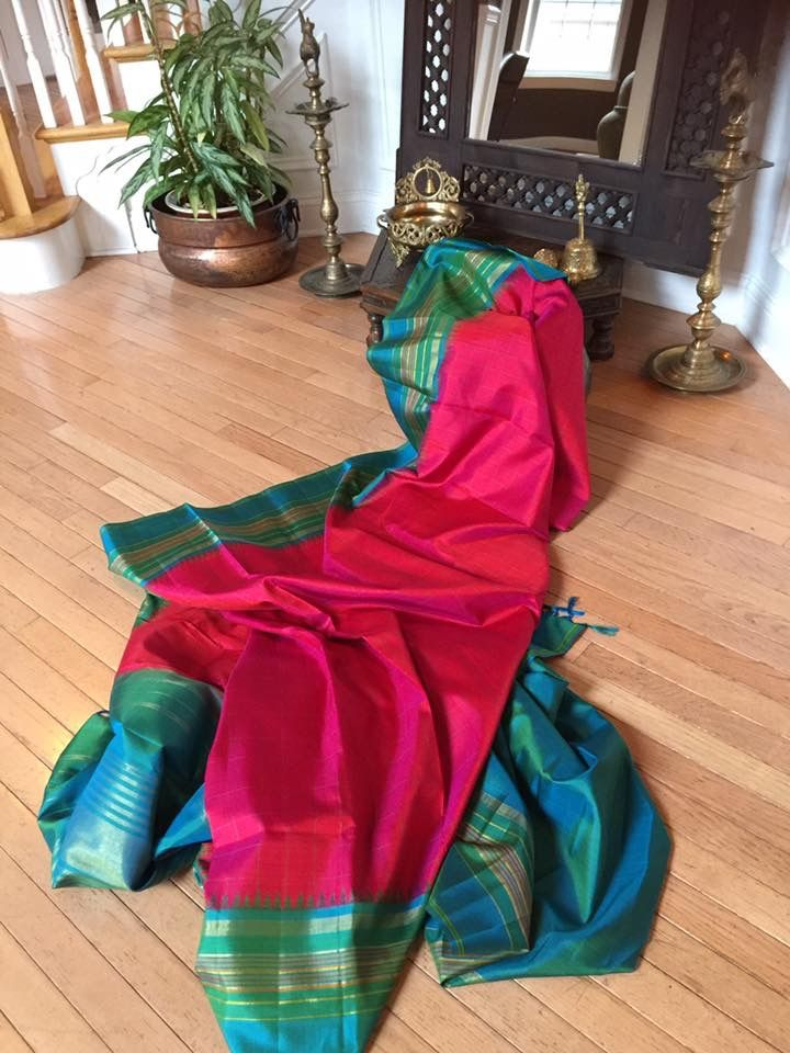 OMG!!!!!! A pure silk saree cannot get better than this!!!!!!