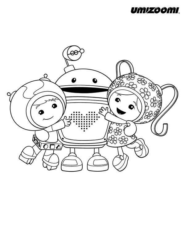 Geo And Milli Hug Bot In Team Umizoomi Coloring Page Color Luna Nick Jr Coloring Pages Coloring Pages Team Umizoomi