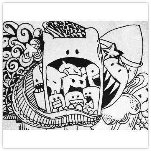 Monster doodle doodle art pinterest doodles and for Doodle art monster