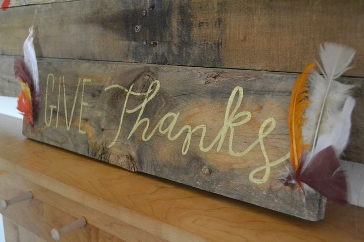 Simple Rustic Thanksgiving Sign