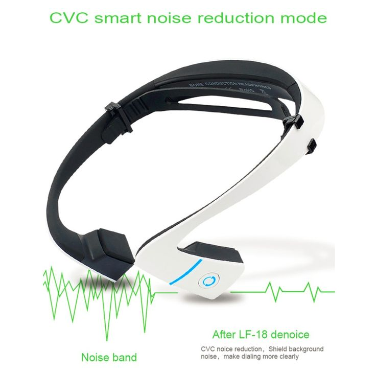 LF-18 Bluetooth 4.1 Bone Conduction Speakers Wireless Stereo Headset Sports Headphone For Running Cycling Black/White
