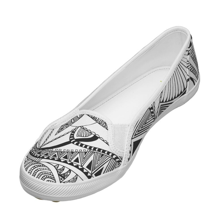 zentangle black and white shoes