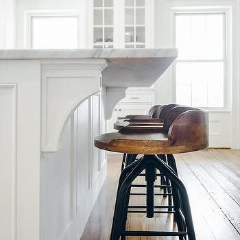 Iron and Wood Swivel Counter Stools