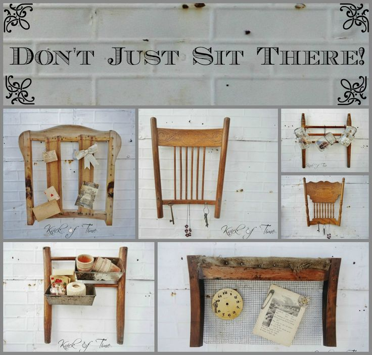Don't Just Sit There - Repurposed Chair Parts