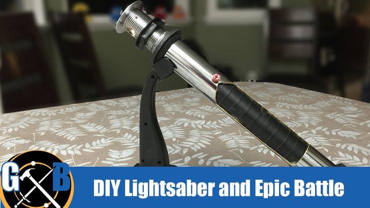 How To:: Star Wars DIY Custom Lightsaber and Epic Battle