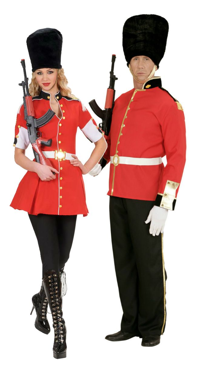 Royal Guard Couple | Fancy Dress Forever. These Men and Ladies Royal Guard costumes are brilliant uniform fancy dress costumes and are ideal for couples!